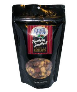 Oregon Orchard Hickory Smoked Premium Hazelnuts, 8oz (Front)