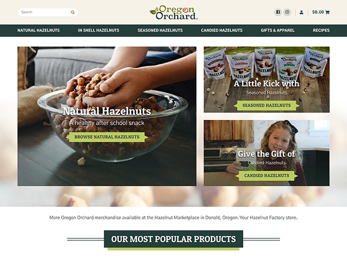 New Oregon Orchard Website